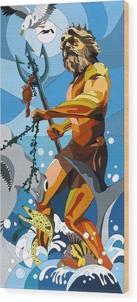 Poseidon - W/hidden Pictures Wood Print
