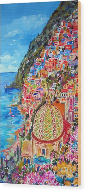 Positano Pearl Of The Amalfi Coast Wood Print