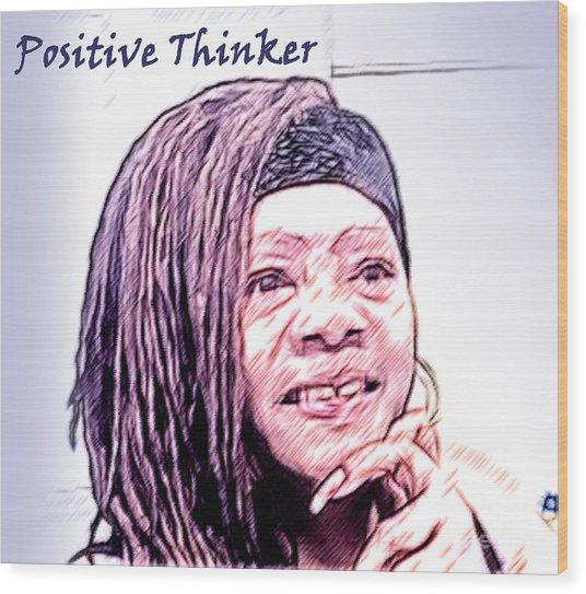 Positive Thinker Pastel Wood Print