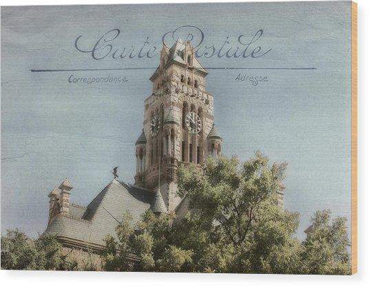 Post Card Wood Print