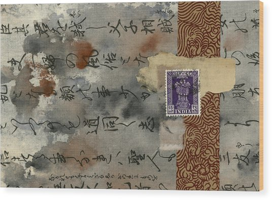 Postcard From India Collage Wood Print