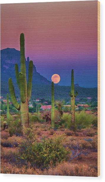 Postcard Perfect Arizona Wood Print