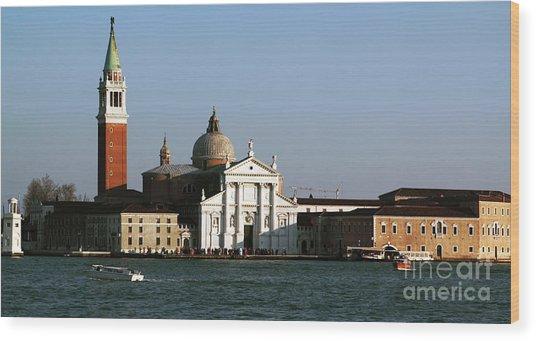Postcard View Wood Print by John Rizzuto