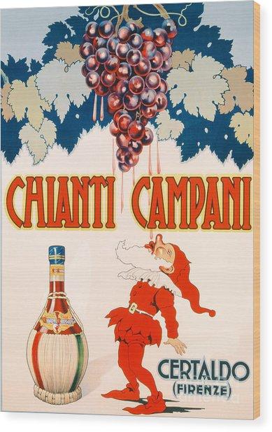 Poster Advertising Chianti Campani Wood Print
