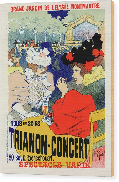 Poster For Trianon-concert. Georges Meunier Wood Print