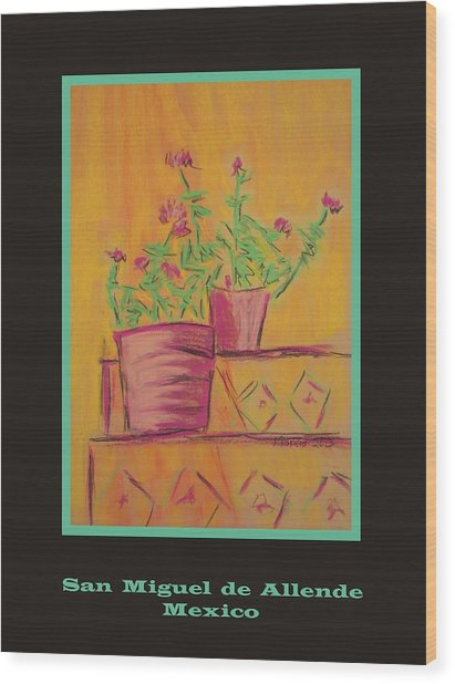 Poster - Orange Geranium Wood Print by Marcia Meade