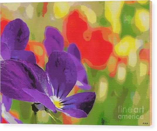 Posterized Viola Wood Print