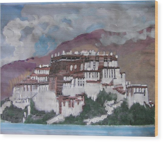 Potala Palace In Lhasa Tibet Wood Print