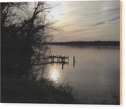 Potomac Reflective Wood Print