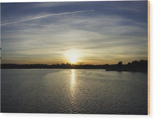 Potomac Sunset Wood Print
