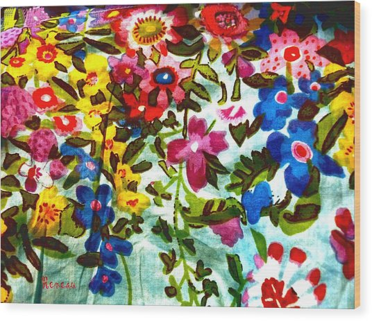Potpourri Flowers Wood Print