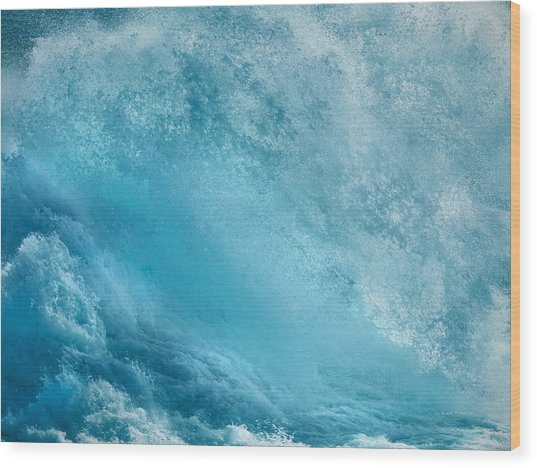 Pounding Waves Wood Print by Leland D Howard
