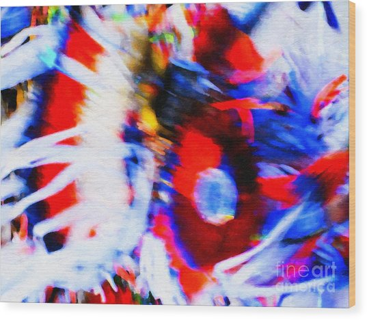 Pow Wow Abstract Wood Print