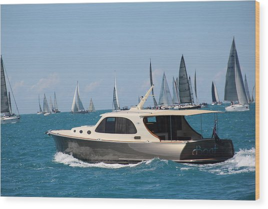 Wood Print featuring the photograph Power And Sail by Debbie Cundy