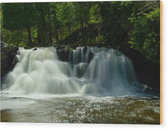 Power Dam Falls Wood Print