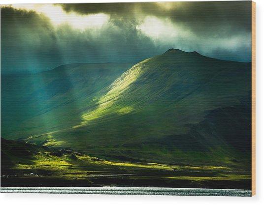 Power Of Light Wood Print by Greg Wyatt