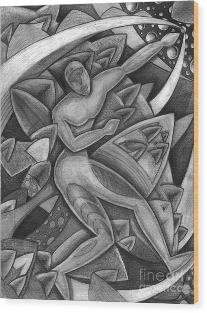 Power Of The Dance - Reach Wood Print