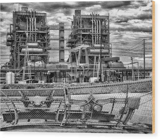 Power Plant In Long Beach Wood Print