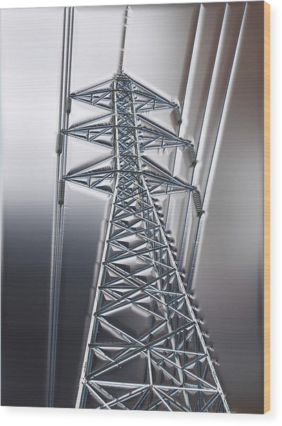 Power Station - Cool Optimized For Metallic Paper Wood Print
