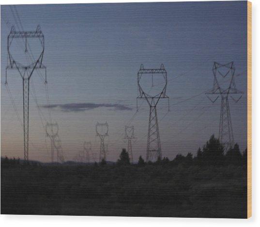 Power Towers Wood Print