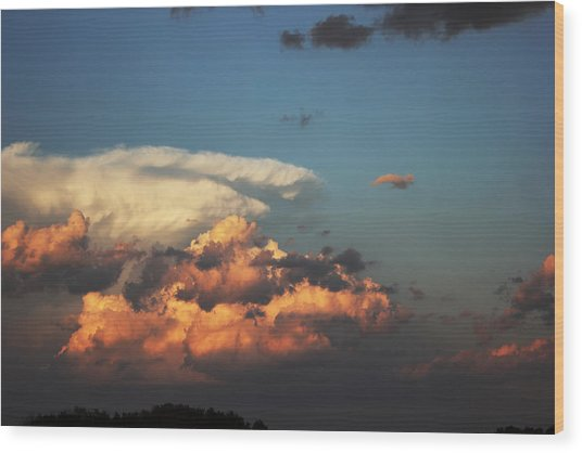 Powerful Cloud Wood Print