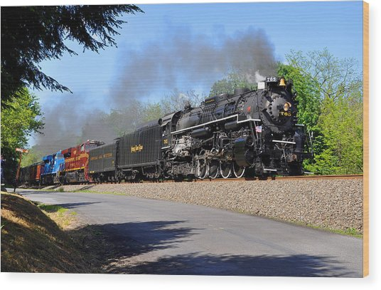 Wood Print featuring the photograph Powerful Nickel Plate Berkshire by Matthew Chapman