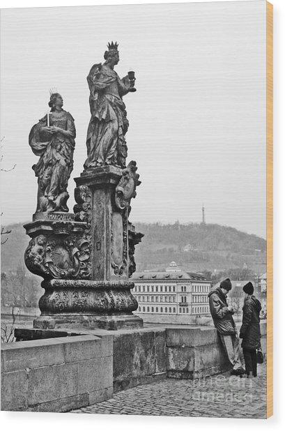 Prague Wood Print