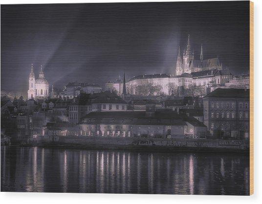 Prague Castle And St Nicholas Wood Print