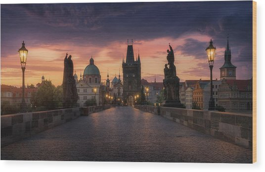 Prague-ii Wood Print