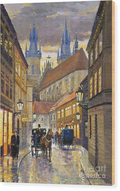 Prague Old Street Stupartska Wood Print