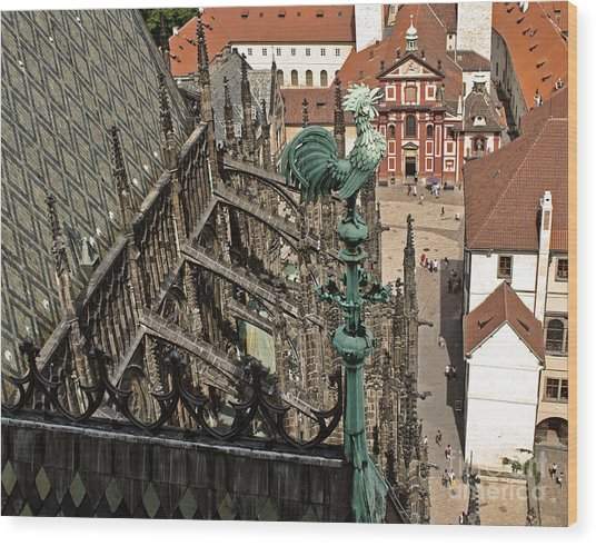 Prague - View From Castle Tower - 11 Wood Print by Gregory Dyer