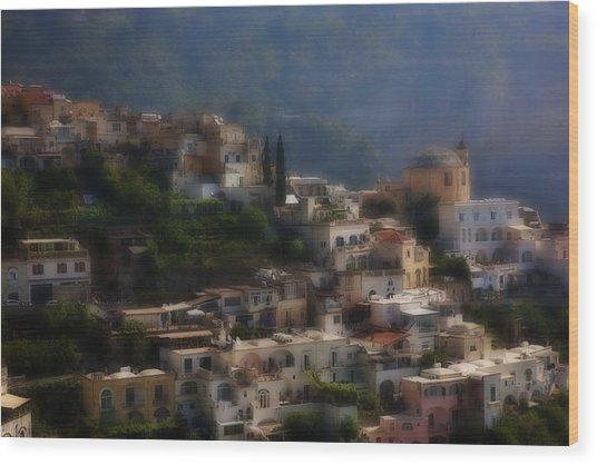 Praiano Amalfi Coast Wood Print