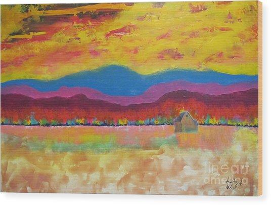 Prairie Autumn Wood Print