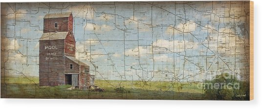 Prairie Panorama Wood Print by Judy Wood