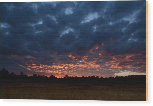 Prairie Sunrise Wood Print
