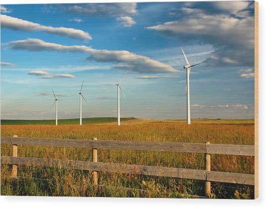 Prairie Wind 1 Wood Print