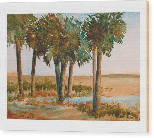 Prarie Palms II Wood Print