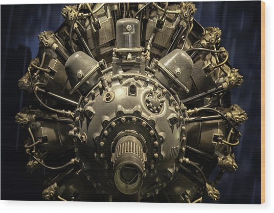 Pratt And Whitney R-2800 Double Wasp Wood Print