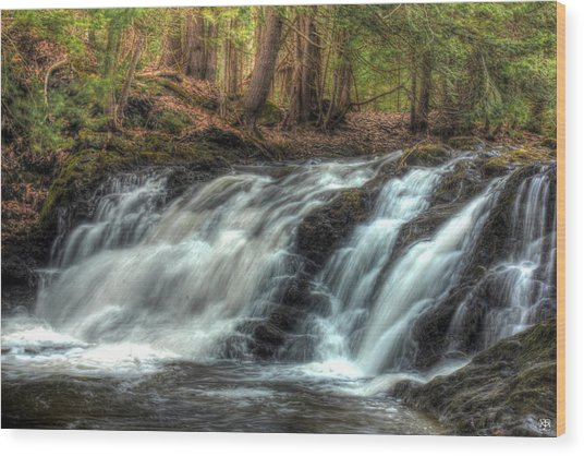 Pratt Brook Falls Wood Print