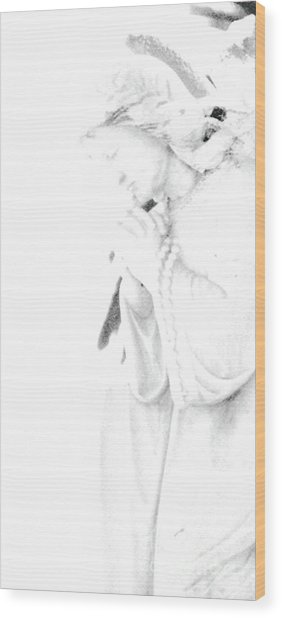 Pray Wood Print