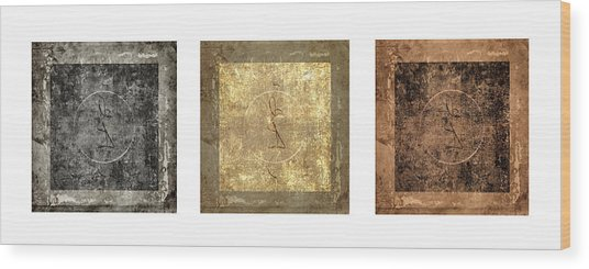 Prayer Flag Triptych Series Two Wood Print