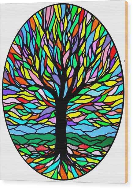 Prayer Tree Wood Print