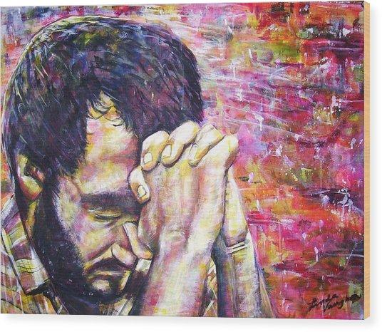 Prayer Warrior Wood Print by Linda Vaughon