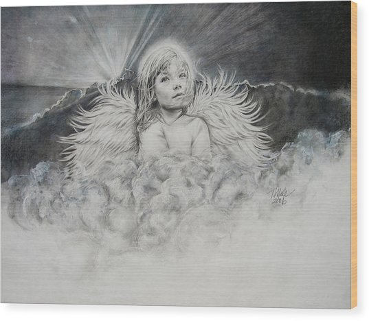 Prayers To An Angel Wood Print