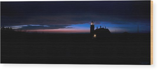 Pre Dawn Light Panorama At Quoddy Wood Print