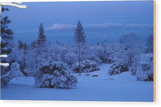Pre-dawn Light Wood Print