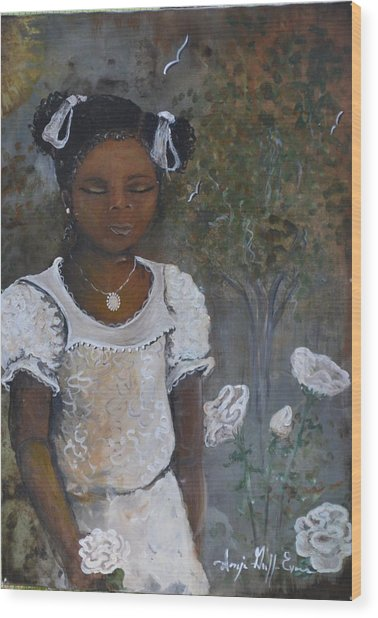 Precious Wood Print by Sonja Griffin Evans