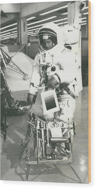Preparing For Apollo 12 Lunar Mission Wood Print by Retro Images Archive