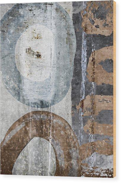 Silken Circles 1 Wood Print