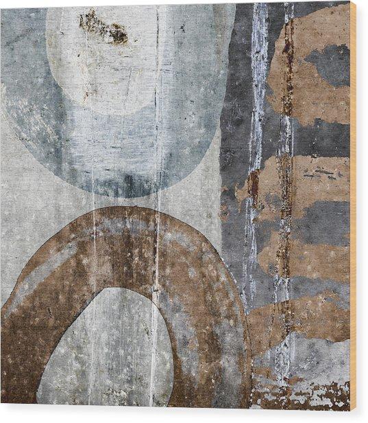 Silken Circles 3 Wood Print